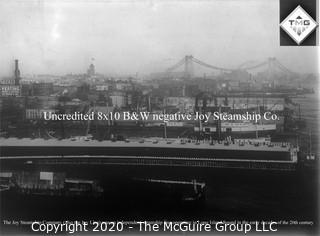 "8 x 10"" Film Negative; Irving Underhill; Joy Steamship Co. New York City (0045A)"