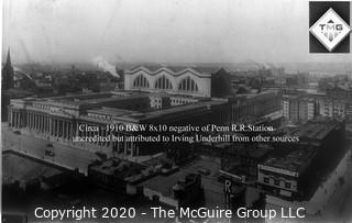 "8 x 10"" Film Negative; Irving Underhill; Penn Station New York City 0050A)"