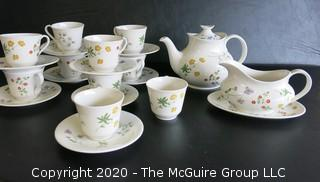 """Partial Set of Royal Doulton Fine China in """"Springtime"""" Pattern. Made in England."""