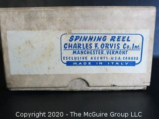 Pflueger Medalist Fishing Reel and Box for Charles Orvis Spinning Reel.