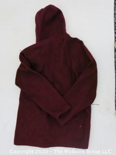 Medium Sized Vintage Red Woolrich Wool Jacket with Hood.