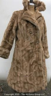 Light Brown Faux/Fur(?) Coat.