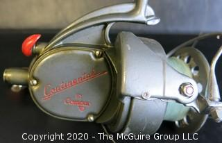Vintage Compac Continental Spinning Reel with Fly Fishing Rod.