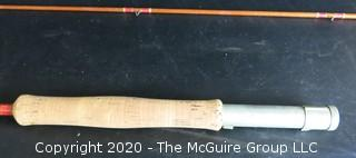 """Vintage Wright McGill Granger Bamboo or Cane Fly Fishing Rod, Hexagon, 85""""."""