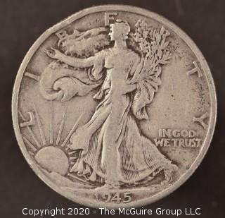 1945-D Liberty Walking Half Dollar
