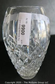 """Cut Crystal Vase. Measures approximately 9"""" x 3 1/2""""."""