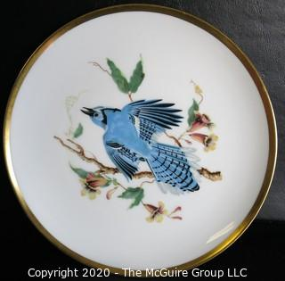 "Set 8 Porcelain Plates Based on Audubon Drawings of Bird.  Made by Hutschenreuther Selb LHS in Germany for Pasco.  Measure approximately 8""."