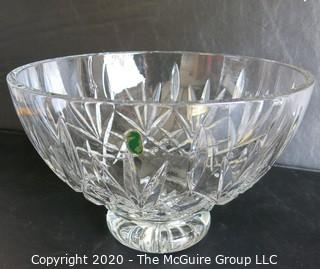 """Waterford Cut Crystal Pedestal Bowl. Measures approximately 5 3/4"""" x 8 1/2""""."""