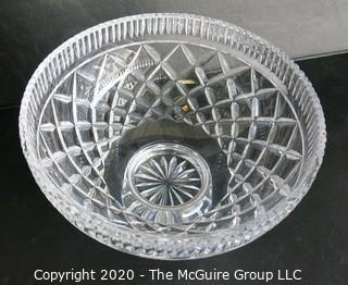 """Waterford Cut Crystal Pedestal Bowl.  Measures approximately 14"""" x 9"""" x 9""""."""