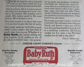 "Vintage Baby Ruth Candy Advertisement. Measures approximately 14"" x 21 1/2""."