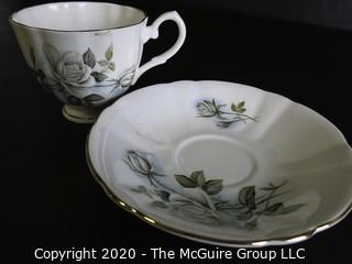 Porcelain Bone China Teacup and Saucer made by Hamilton in England.