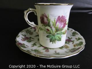Porcelain Bone China Teacup, August, Made in Japan.