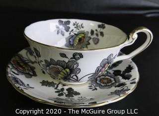 Porcelain Bone China Teacup and Saucer in Mandarin pattern made by Victoria C&E in England.
