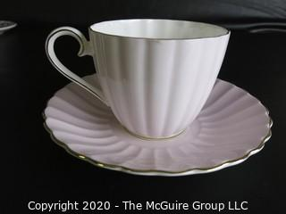 Fine Porcelain Bone China Teacup and Saucer made by Tuscan in England.