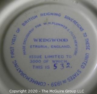 Porcelain Bone China Teacup and Saucer in Queens Ware pattern made by Wedgwood Etruria, England.