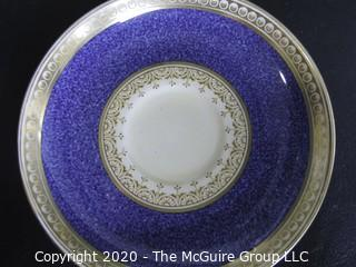 Porcelain Bone China Teacup and Saucer made in Pearl pattern made by Aynsley in England.