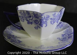 Porcelain Bone China Teacup and Saucer made by Shelley in England.