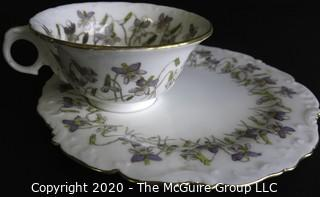 Porcelain Bone China Teacup and Toast Snack Plate made by B.W.M.& Co. in England.