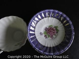 Porcelain Bone China Teacup and Saucer made by Gladstone China in England.