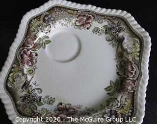 Porcelain Bone China Teacup and Toast Snack Plate in Devonshire pattern made by Johnson Bros in England.