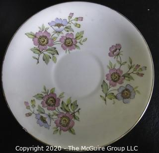 Porcelain Bone China Teacup and Saucer made in Pearl pattern made by Stanley in England.