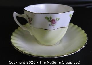 Porcelain Bone China Teacup and Saucer made in Rainbow pattern made by Royal Albert in England.