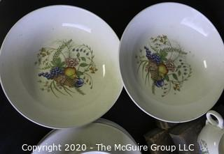 Partial set of Ballerina China Place Settings and Serving Pieces.