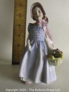 """Vintage Royal Doulton Porcelain Figurine """"Wendy"""". Measures approximately 6 1/2"""" tall."""