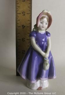 "Vintage Royal Doulton Porcelain Figurine ""Ivy"". Measures approximately 5 1/2"" tall."