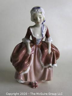 """Vintage Royal Doulton Porcelain Figurine """"Goody Two Shoes"""". Measures approximately 6"""" tall."""