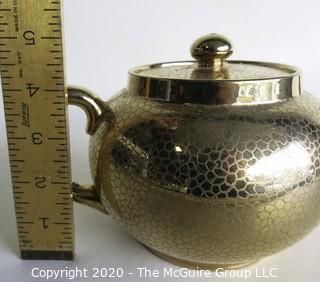"Vintage Gold Gilt Gibson & Sons Burslem Tea Pot, Made in England.  Measures Approximately 5""."