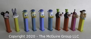 Lot of 10 Vintage Pez Dispensers - Disney and Hanna Barbara Characters.