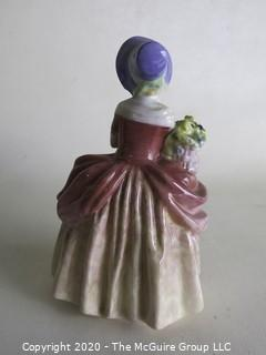 "Vintage Royal Doulton Porcelain Figurine ""Cissie"". Measures approximately 6"" tall."