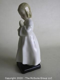 "Vintage Royal Doulton Porcelain Figurine ""Bedtime"". Measures approximately 6"" tall."