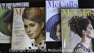 Nine Vintage McCall's Fashion Magazines.