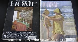 Five Vintage Ladies Home Journal Magazines.