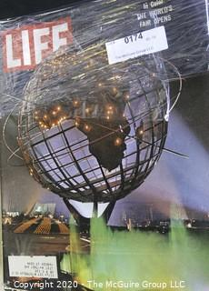 Seven Vintage Life Magazines.  Includes Kennedy, Worlds Fair and NASA.