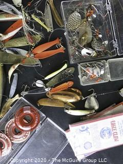 Large Lot of Vintage Fishing Lures and Tackle.