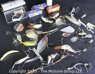 Lot of Vintage Fishing Tackle and Lures.