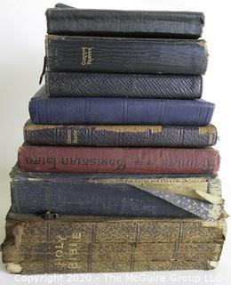 Group of Holy Bibles and Book of Common Prayer. One distributed to the Armed Forces by the White House in 1941. Various Conditions.