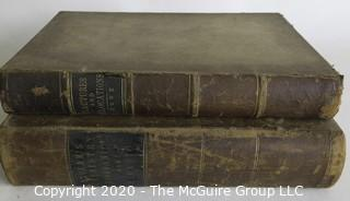 Two Antique Science Books: Fractures and Dislocation, 1870 & Chemistry - Inorganic and Organic, 1878