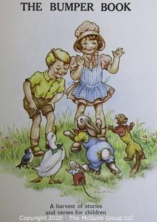 Group of Vintage Children's Books, Most Written in German, with Color Illustrations.