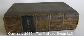 Antique 1828 Leather Bound Holy Bible, Family Bible, with Record of Births, Marriages and Deaths for Carnfe Family.