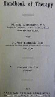 Four Vintage Hard Cover Instructive Books On Therapy and Psychology.