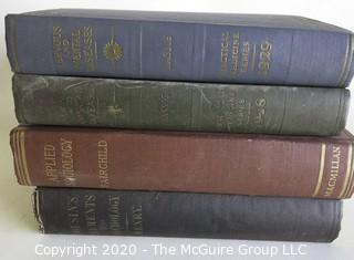 Group of Four Vintage Hard Cover Medical School Books for Sociology, Psychology, Medicine and Mental Diseases.  Full of Detailed Black and White Illustrations.