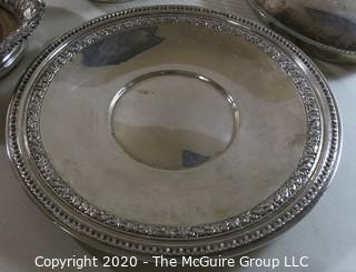Group of Silver Plated Serving Pieces.