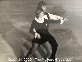 Group of Vintage 1970's Homemade Skating Costumes (photos are shown of the young skater performing; however, the photos and skates are not part of the grouping).