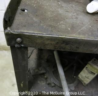 """Metal Welding Cart with Shelves and large, heavy castors; 25 x 44 x 30""""tall."""