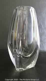 """Baccarat Signed French Crystal Bouton D'or or Buttercup Vase. Measures approximately 8"""" tall."""