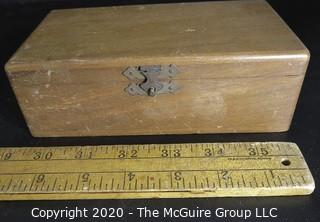 Vintage Blood Taking Unit made by Becton, Dickinson, & Company in Original Wood Box.